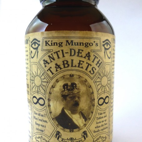 "King Mungo's ""Anti-Death Tablets"""