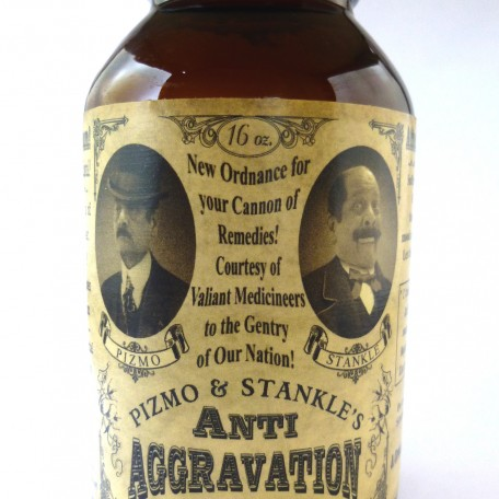 "Pizmo and Stankle's ""Anit-Aggravation Pills"""